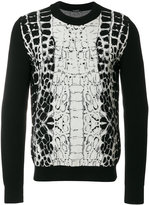 Balmain crocodile pattern jumper