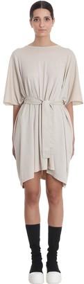 Drkshdw Minerva Tunic Dress In Beige Cotton