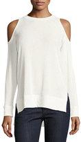 Alice + Olivia Landon Cold-Shoulder Sweater, Off-White