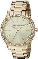 French Connection Women's 'Maiden' Quartz Stainless Steel Watch, Color:Gold-Toned (Model: FC1205GM)
