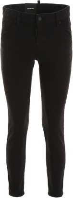 DSQUARED2 Mid Rise Straight Leg Jeans