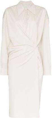 Lemaire button front shirt dress