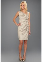 Suzi Chin for Maggy Boutique - Cascade Front Dress (Oyster) - Apparel