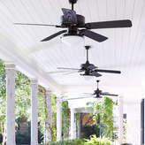 "Laurel Foundry Modern Farmhouse 52"" Schiller 5-Blade Patio Ceiling Fan"