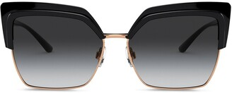 Dolce & Gabbana Eyewear Double Line oversized-frame sunglasses