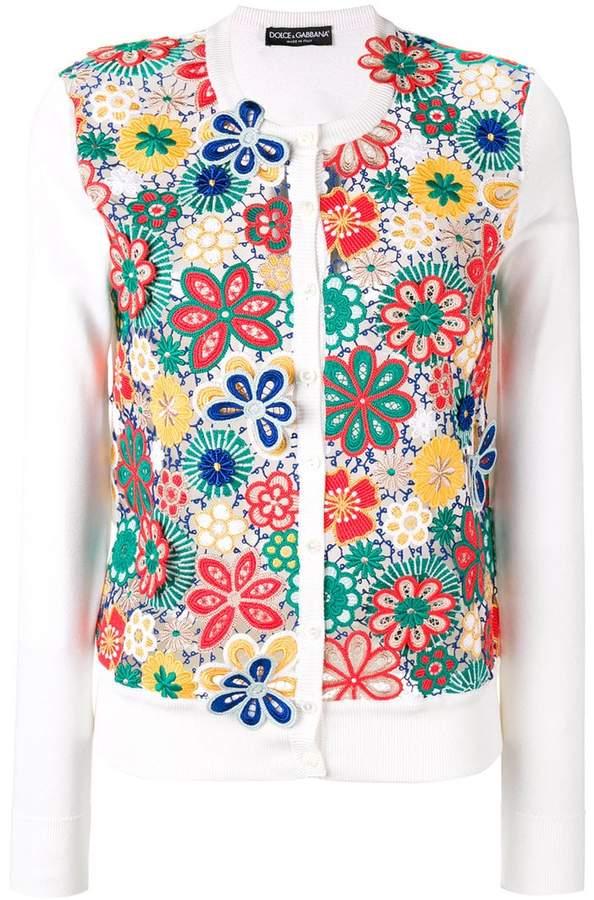 Dolce & Gabbana floral crochet cardigan