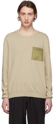 Maison Margiela Beige Front Pocket Sweater