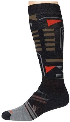 Smartwool PhD(r) Ski Medium Pattern (Charcoal) Men's Crew Cut Socks Shoes