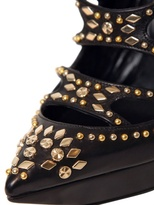 Versace 130mm Calf Studs Cage Boots