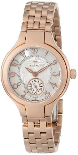 "Philip Stein Teslar Women's 44RGP-FMOP-SS5RGP""Round Collection"" Rose Gold-Plated Watch"