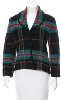 Sonia Rykiel Plaid Shawl-Lapel Jacket