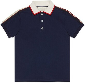 Gucci Children's polo with stripe