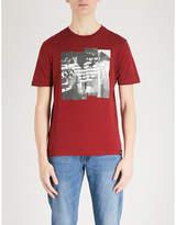 Emporio Armani Printed Cotton-jersey T-shirt
