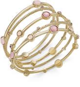 INC International Concepts Gold-Tone 5-Pc. Set Pink Stone Bangle Bracelets, Only at Macy's