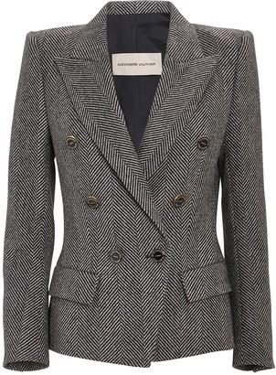 Alexandre Vauthier Double-Breasted Wool Herringbone Blazer