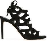 Stuart Weitzman ankle length sandals - women - Leather/Calf Suede - 39.5