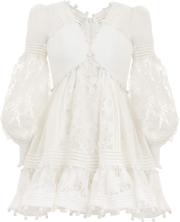 Zimmermann Corsage Embellished Mini Dress