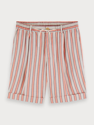 Scotch & Soda Striped Linen Blend Shorts | Men