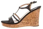 Salvatore Ferragamo Gancini Cork Wedges