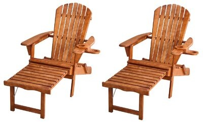 Rosecliff Heights Yarborough Solid Wood Folding Adirondack Chair Color Oak Shopstyle