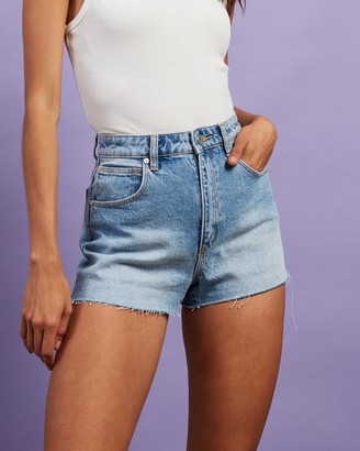 Abrand - Women's Blue Denim - A High Relaxed Shorts - Size 26 at The Iconic