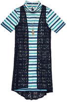 Speechless Short-Sleeve Shift Dress With Vest - Girls 7-16