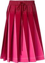 Valentino Technical pleated A-line skirt