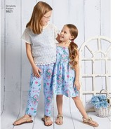 Simplicity Childs' Size 7-14 Dress, Top, Pants & Camisole Pattern, 1 Each
