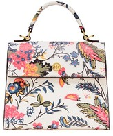 Tory Burch Small Parker Floral Satchel - White