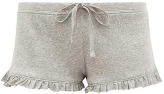 Skin Raffaela Ruffle-trimmed Pima-cotton Shorts - Light Grey