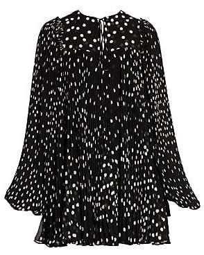 Stella McCartney Women's Scattered Polka Dot Babydoll Dress