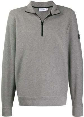 Calvin Klein Half-Zip Cotton Sweatshirt
