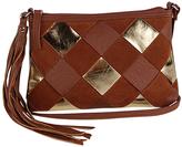 Cognac Color Block Top-Zip Crossbody Bag