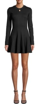 Nicole Miller Ponte-Knit Fit & Flare Dress