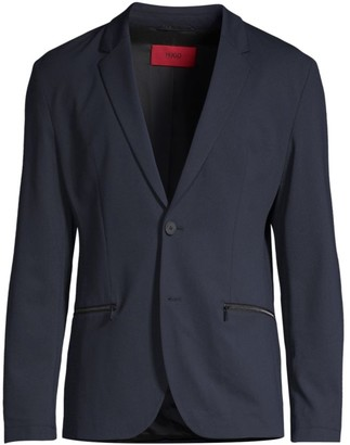 HUGO BOSS Slim-Fit Zip-Pocket Suit Jacket