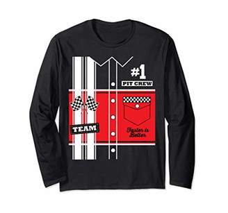 Pit Crew Costume for Halloween Racing Team Long Sleeve T-Shirt