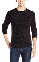 Original Penguin Men's Long Sleeve Raglan Crew with Boucle Front Panel