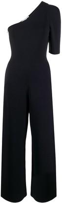 Stella McCartney one shoulder cropped jumpsuit