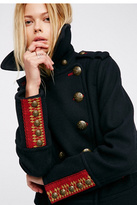 Womens CROPPED WOOL PEACOAT