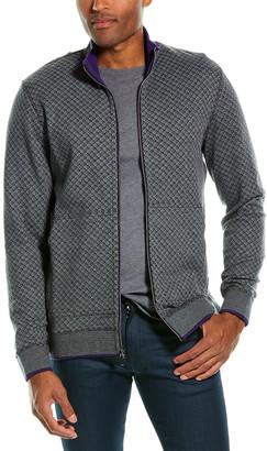 Robert Graham Mulhare Reversible Classic Fit Zip Mock Sweater