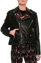 Valentino Love Blade Embroidered Leather Moto Jacket, Back
