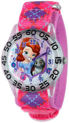 Swarovski Disney Princess Disney Set With Crystals Sofia The First Girls Pink Strap Watch-W001957