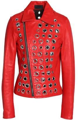 RtA Embellished Leather Jacket