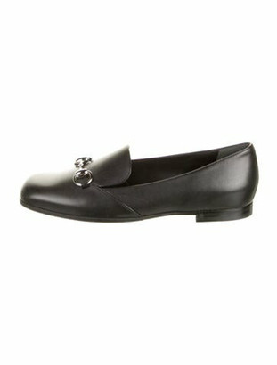 Gucci 1955 Horsebit Accent Leather Loafers Black