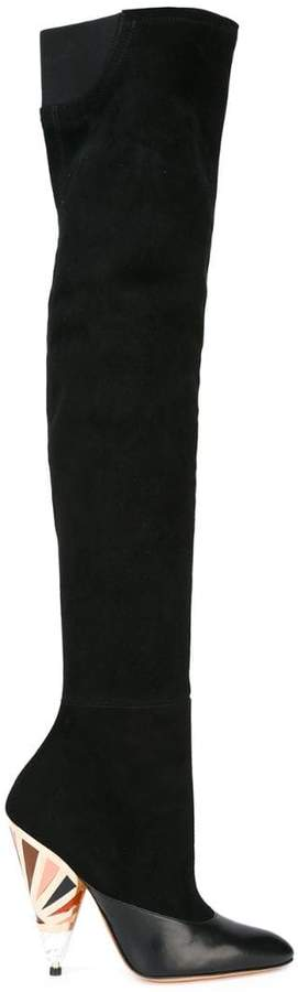 Givenchy printed heel over-the-knee boots