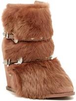 Ivy Kirzhner Swiss Genuine Rabbit Fur Wedge Boot