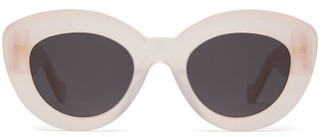 Loewe Butterfly Cat-eye Acetate Sunglasses - Pink