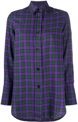 Aspesi Check Long-Sleeve Shirt