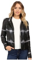 Brigitte Bailey Skylar Faux Leather Tie-Dye Jacket
