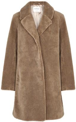 Velvet by Graham & Spencer Triselle brown faux shearling coat